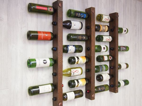 Fantastic Interior Space Saver Furniture Of Brown Wooden Wine Rack