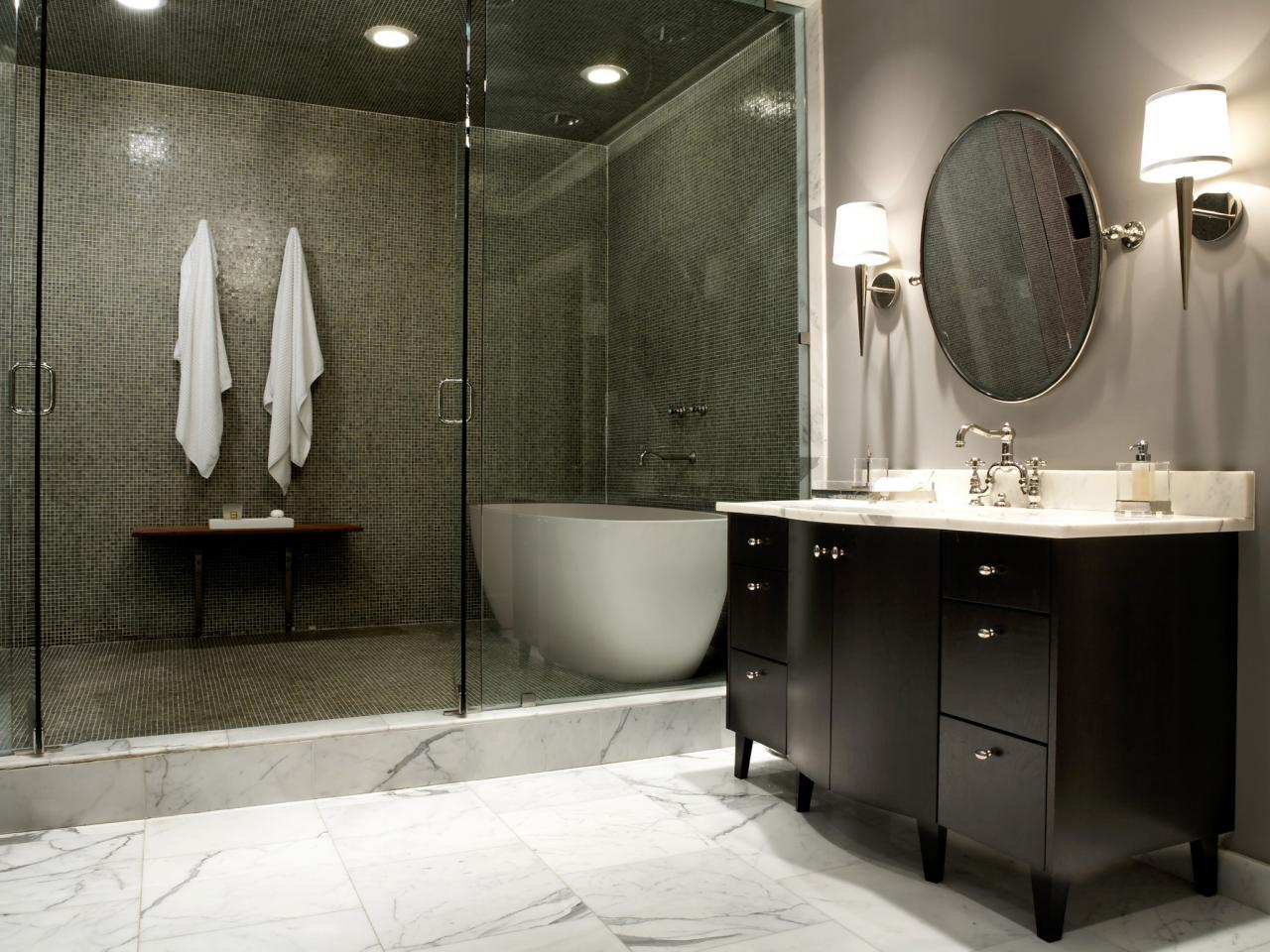 Fascinating Visible Showering Area Using Built in Lamp For Great Room Layout Planner