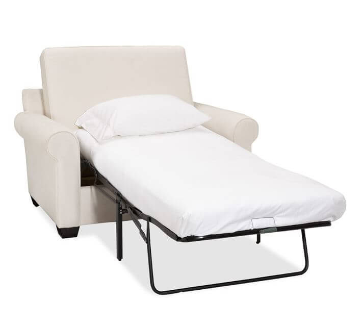 Frantic Full Size Sofa Bed Using Metal Legs And White Pillow
