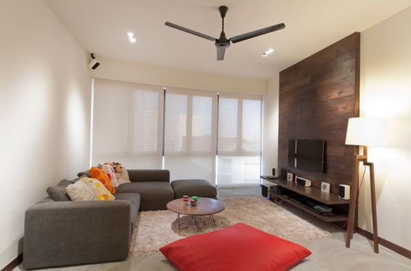 Frantic Wooden Paneling also Sectional Sofa Plus Ceiling Van Decor