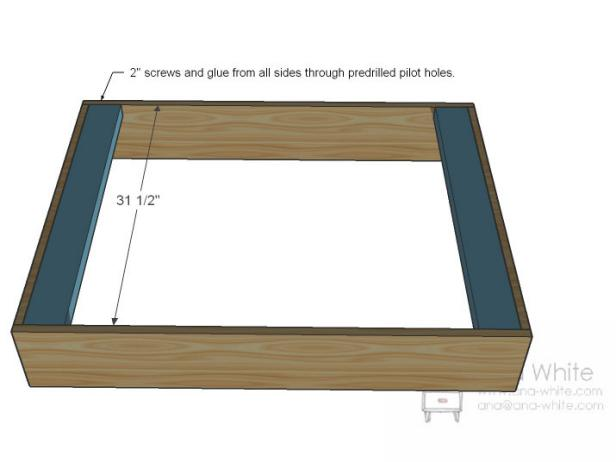 Good Step To Make Table Dimensions With Screw and Glue all Sides