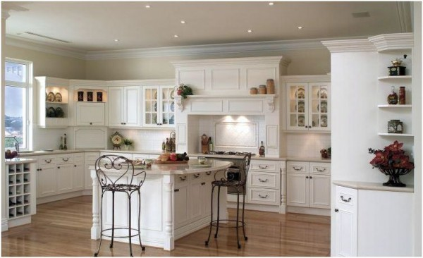 Graceful Kitchen With Table and High Chair also Wine Storage Cabinet