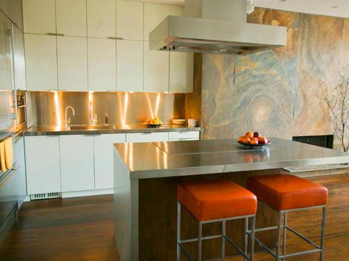 Graceful Lighting On Cabinet Plus Simple Bar Table and Chair
