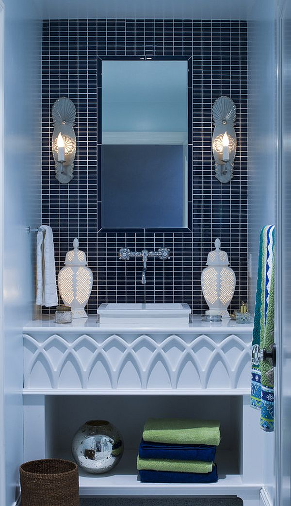 Graceful Wall Tile also Small Bathroom Cabinet Design Plus Mirror
