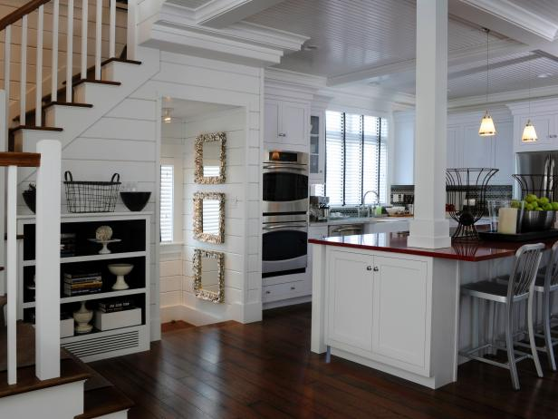 Grand Kitchen Decor With Wood Paneling Wall also Bar Table and Chairs