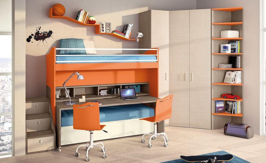 Space saver furniture for modern and contemporary house - Space saving bunk beds for small rooms ...