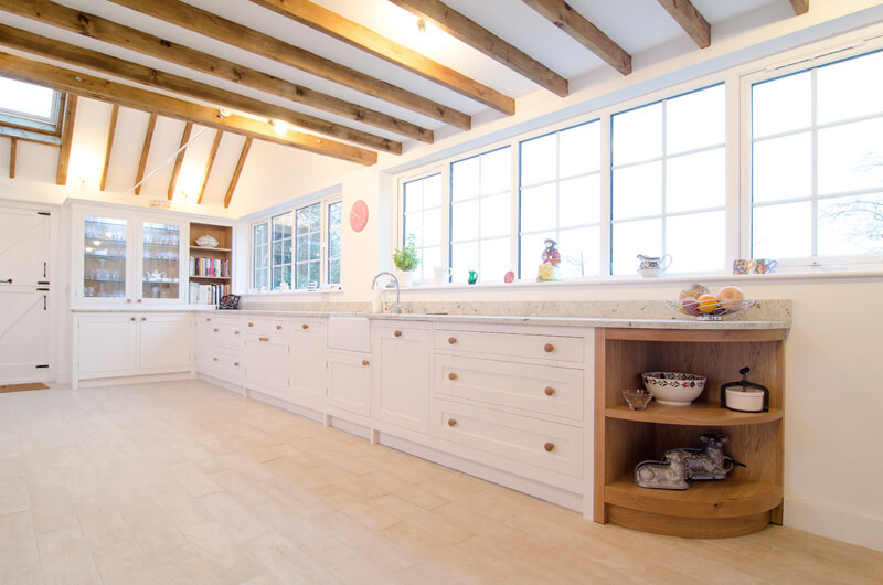Charmant Hunky Kitchen Custom Made Furniture With Cabinet And Natural Wooden Beam