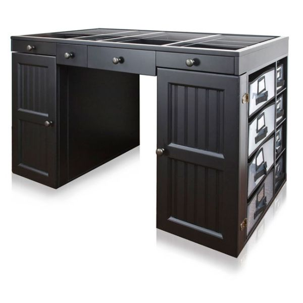 Three Considerations To Decorate Black Desk With Drawers