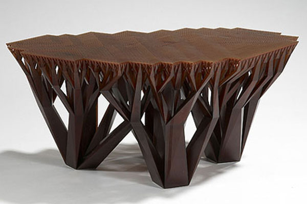 Impressive Design Of Square Wood Coffee Table  With Unique  Legs