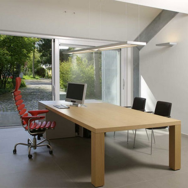Incredible Design Of The Big Sliding Door With Brown Wooden Table Ideas Added With White Wall And White Ceiling Ideas