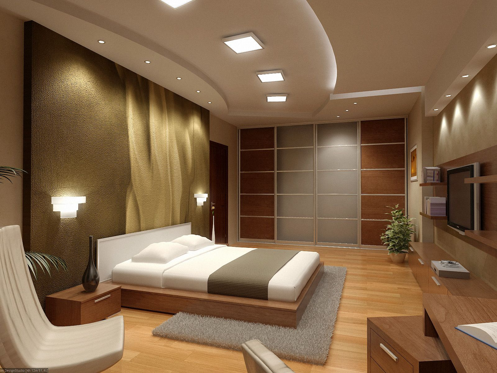 Interesting Bedroom Studio Apartment Decorating With Best Light Fixture Ideas