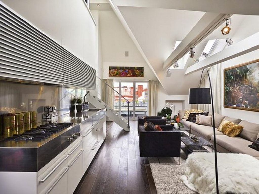 Interesting Living Space With Sofa also Arm Chair For Contemporary Interior Design