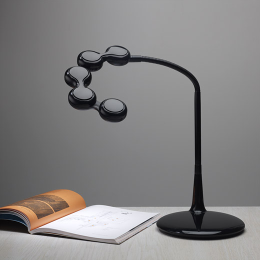 Lavish Table Lamp Design Ideas With Black Pipe and Shade