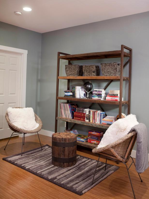 Lovely Reading Nook Ideas Also Rustic Table Naer Book Shelve
