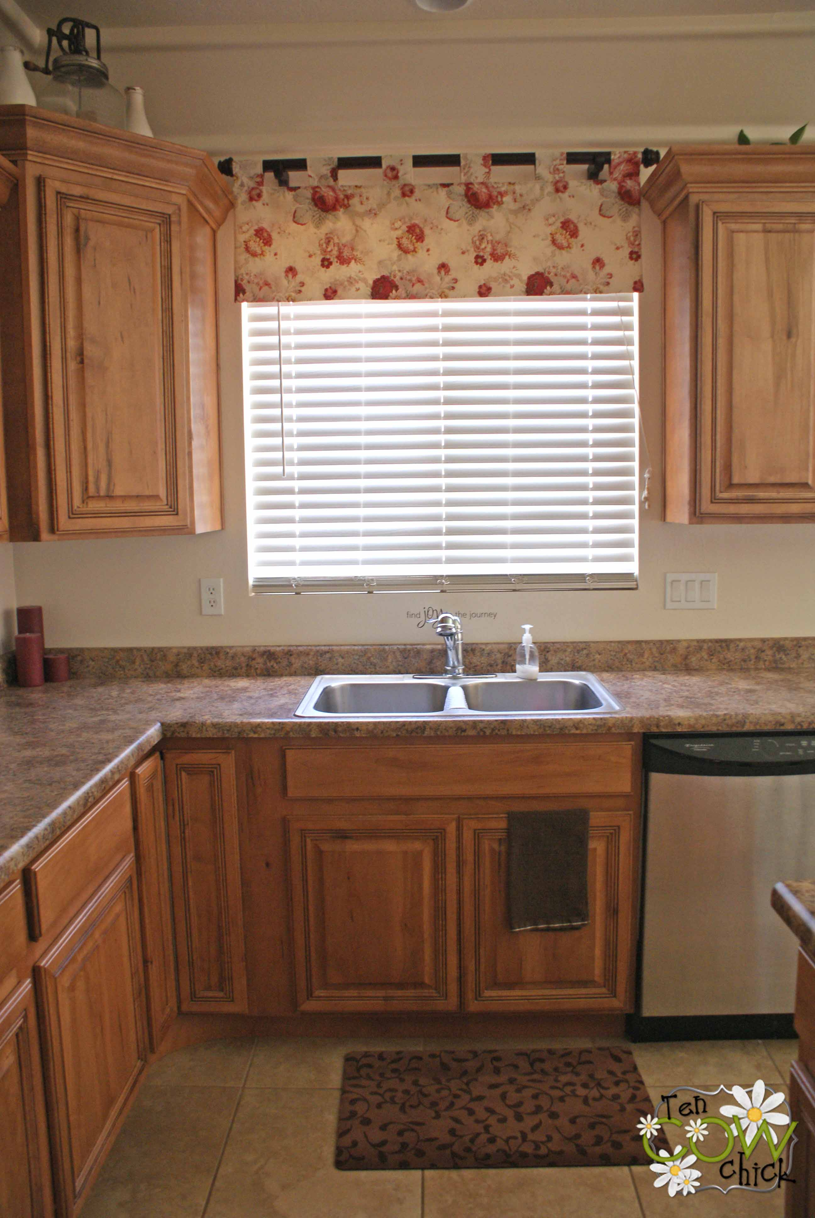 Lovely Window Curtain Ideas also Wooden Cabinet For Decorating Kitchen