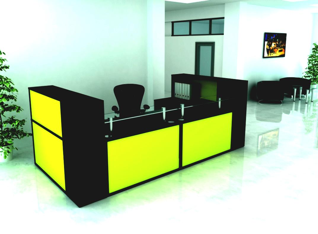 Luxurious Design Ideas of Dark Contemporary Desk With Yellow Accent
