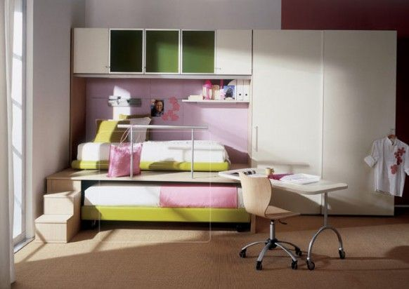 Magnificent  Study Table Set Plus Chic Bunk Bed also Kids Room Storage