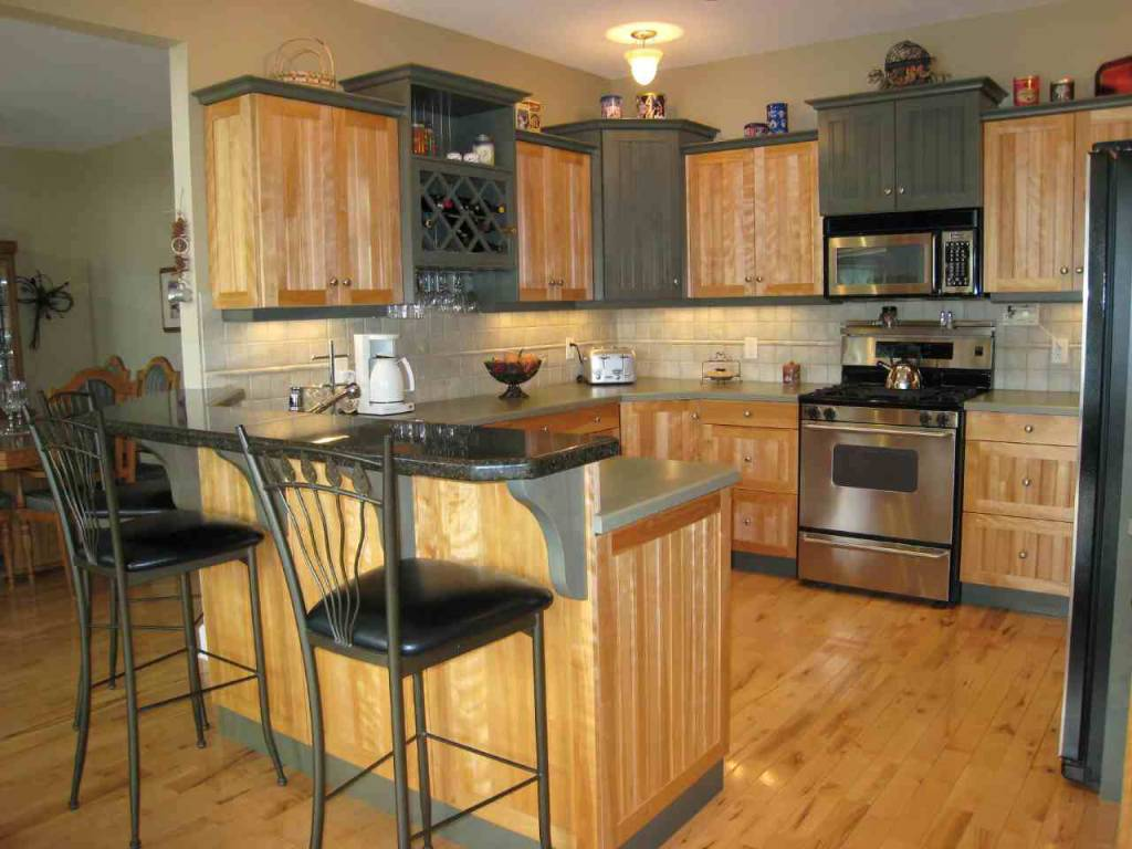 Marvelous Design Of The Italian Kitchen Decor With Brown Wooden Floor Ideas Added With Brown Wooden Cabinets And Vanities Ideas