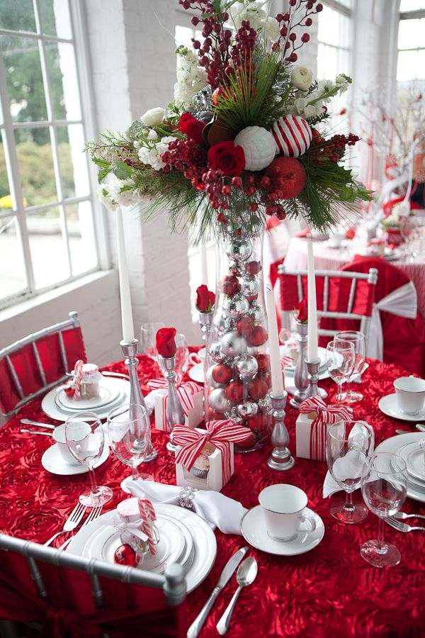 Marvelous Design Of The Table Decoration Ideas With Red Napkins Ideas Added With White Plate And White Cups Ideas And Silver Spoon And Porks