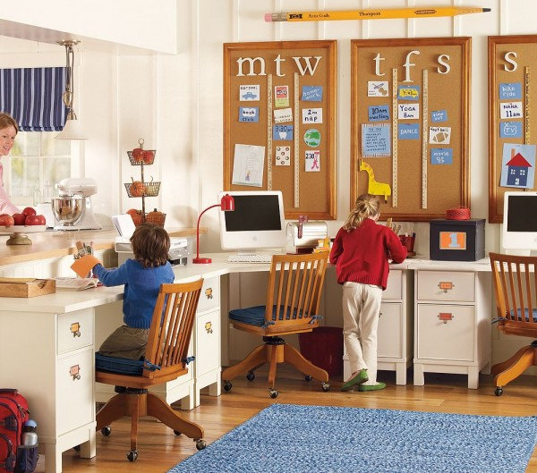 Mesmeric Kids Room Furniture With Large Desk also Comfortable Chairs