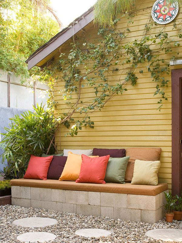 Minimalist Design Of Front Porch Bench With Pillows also Seat