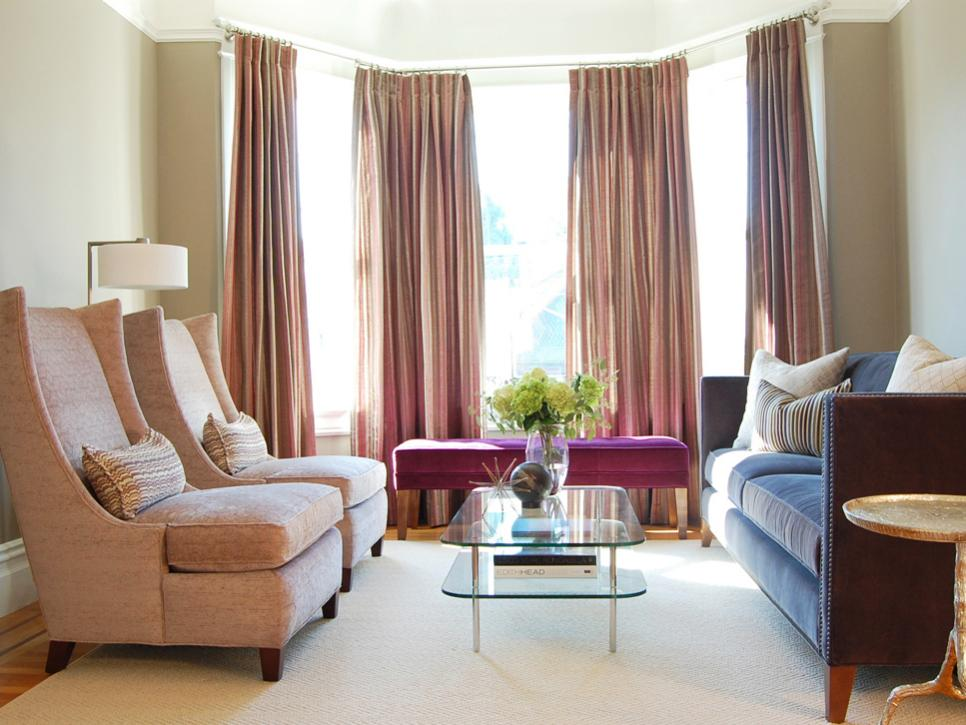 Minimalist Living Room Drapes also Purple Bench Plus Charming Sofas