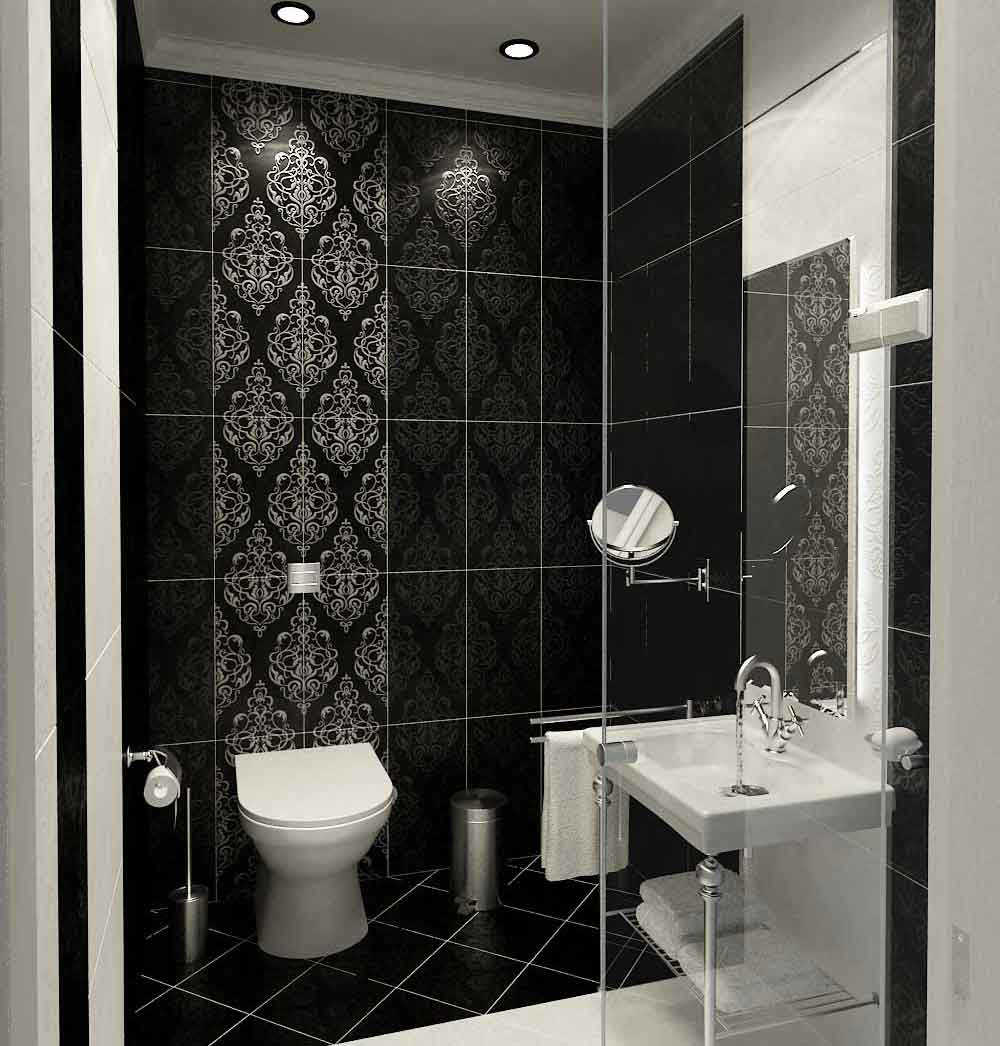 Attrayant Modern Wall Bathroom Tiles Ideas Also Built In Lamp Plus Toilet
