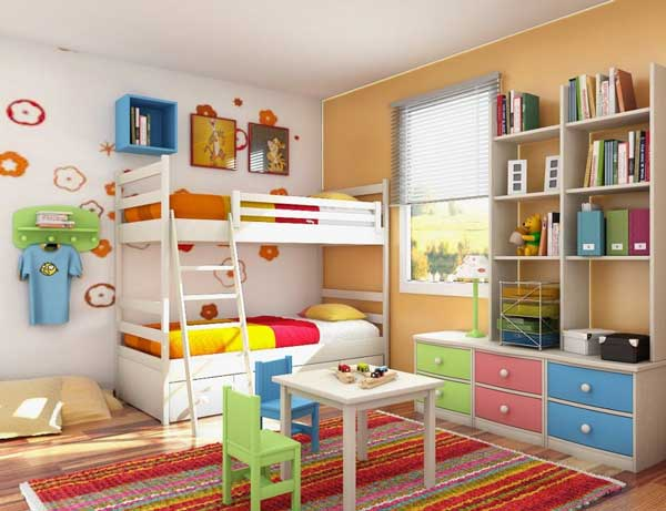 Nervous Bunk Bed also Simple Study Table Set Plus Kids Room Storage