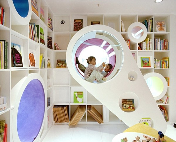 Attractive Superieur Nervous Window Seat Also Book Shelve To Decorate Kids Play Area