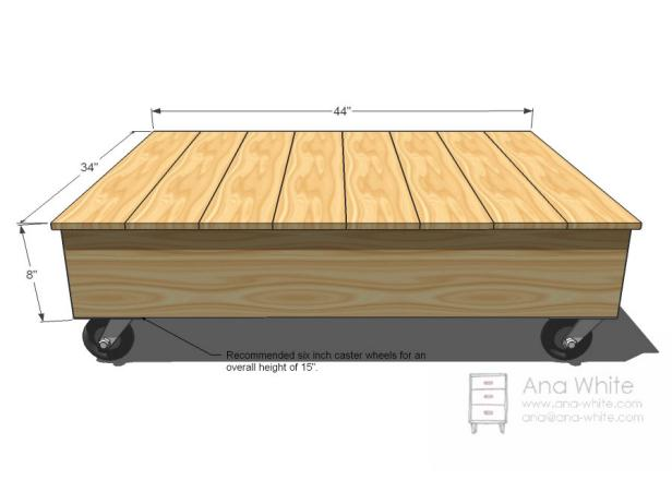 Nice Design of Coffee Table Dimensions Of Wooden Material Using Wheels