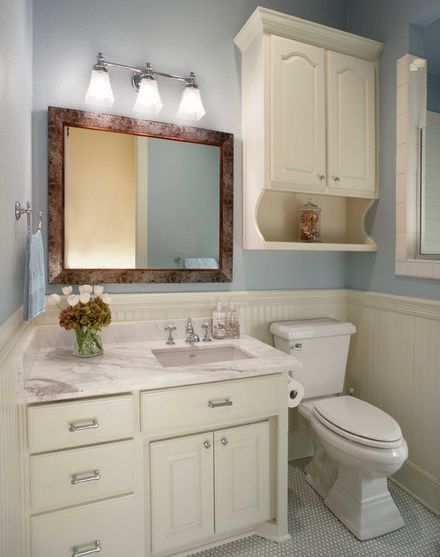 Opulent Bathroom Decor With Medicine Cabinet Mirror Under Wall Lamp