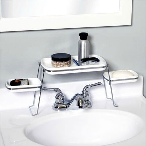 Opulent Sink also Stainless Steel Faucet Plus Small Bathroom Storages
