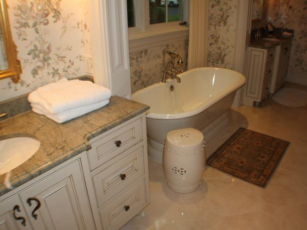 Pleasing Cabinet With Marble Top also Small Soaking Tub Bathroom Decor