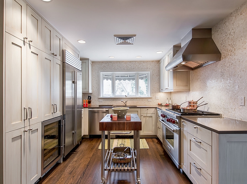 Pleasing Kitchen With Small Wall Tile also Contemporary Cabinet Design