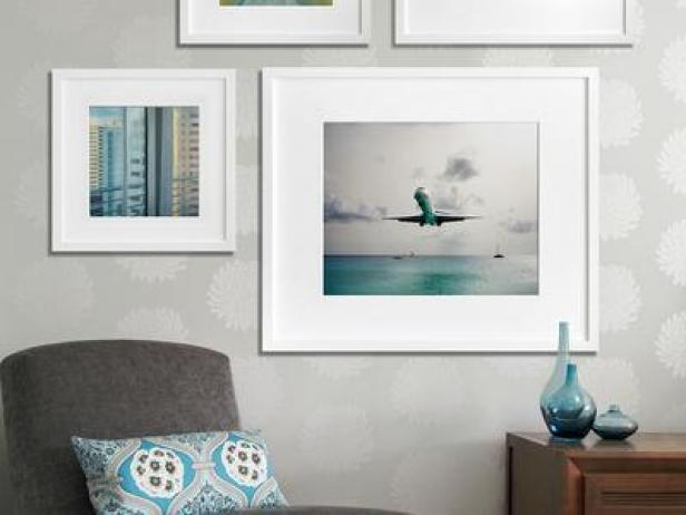 Pleasing Wall Art Decor also Jars On Wooden Table Near Grey Chair