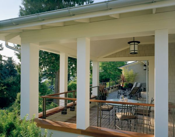 Radiant Porch Railing also Table and Chair Plus Pendant Lighting
