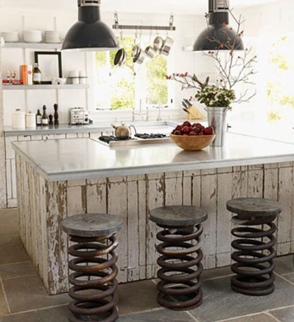 Rustic Bar Table also Stools Plus Dark Chandelier Shade To Decorate Kitchen Islands