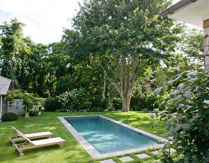 Seductive Backyard With Small Pool Design Ideas also Simple Beach Chair