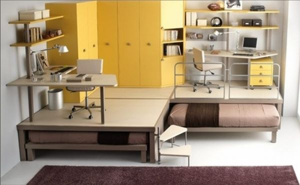 Seductive Space Saver Furniture Under Floor Plus Set Of Study Table