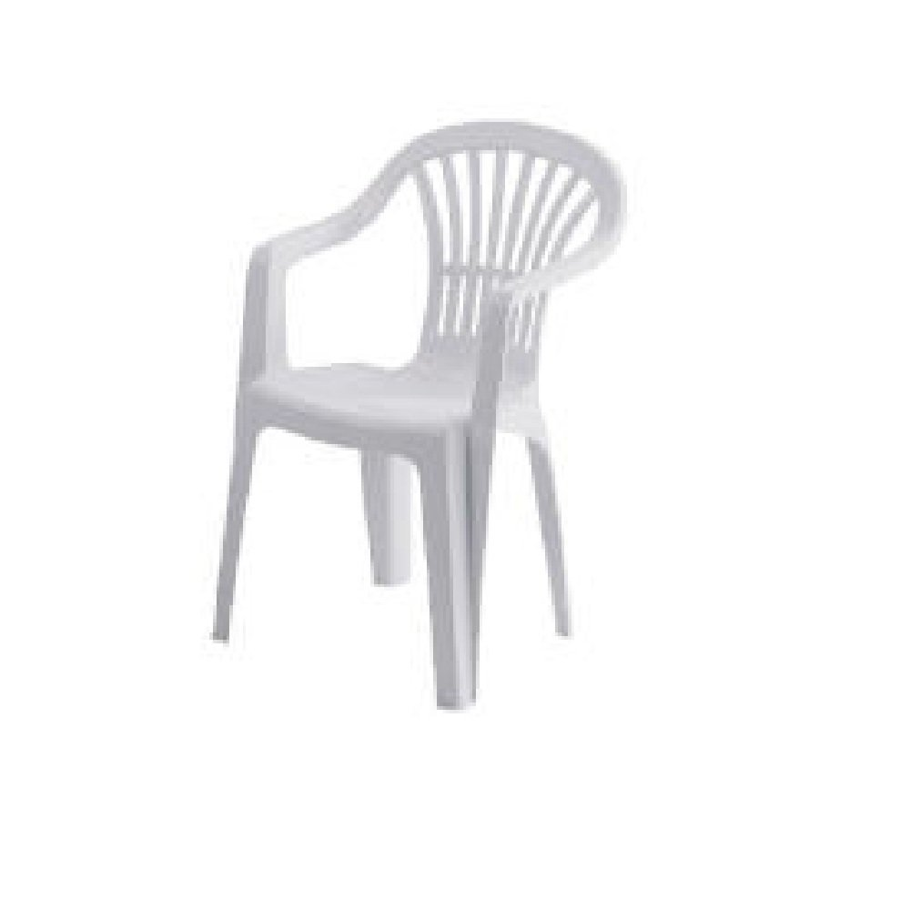 Simple Back and Seat also Handle Arm For White Plastic Chairs