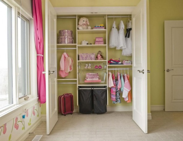 Simple Closet Organizers Ideas For Girl With Hanging Clothes also Racks