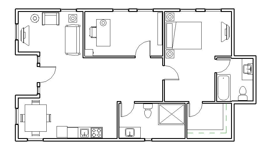 Simple Design Of The Shipping Container House Plans With Two Bedroom Areas Added With Two Bathrom And A Living Room