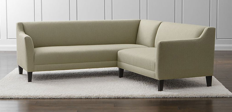 Simple Design of Sectional Sofa on Smooth Carpet For DEcorating Living Space
