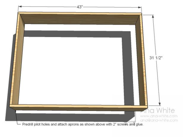 Simple Step To Make Wooden Coffee Table Dimensions By Screw and Glue