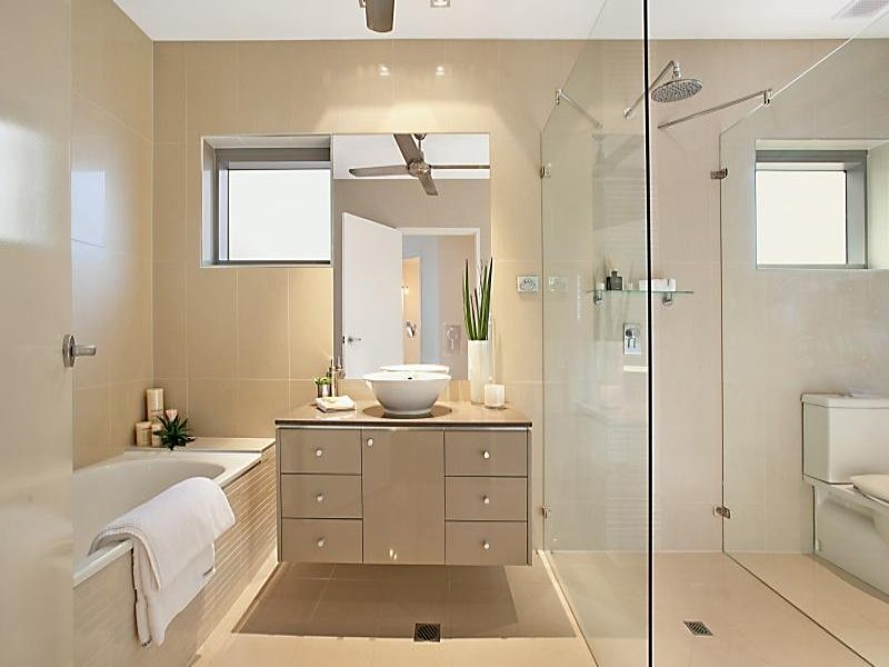 Stunning Design Of The Framed Bathroom Mirrors With Brown Wooden Cabinets Added With White Bowl Sink And White Tubs Ideas
