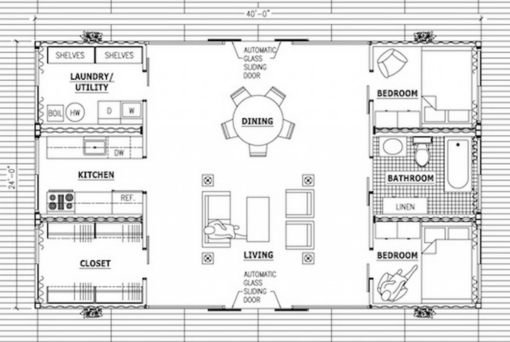 Stunning Design Of The Shipping Container House Plans With Living Room And  Dining Room In One