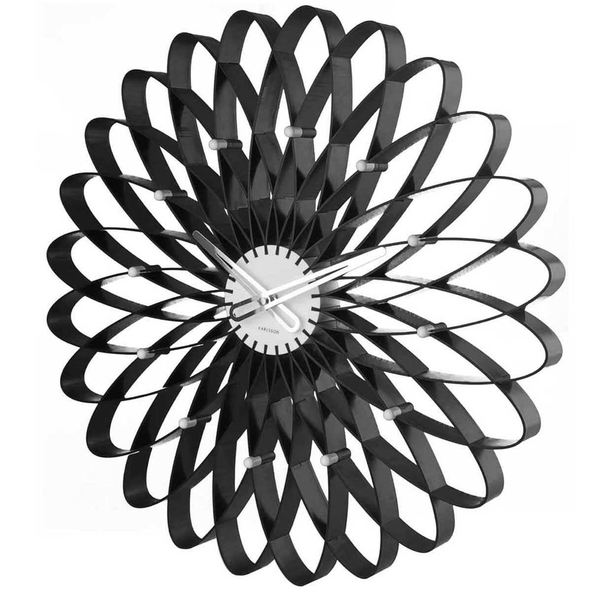 Stunning Design Of The Wall Clocks Ideas With Black Color Ideas And White Color At The Middle For The Bedroom Areas
