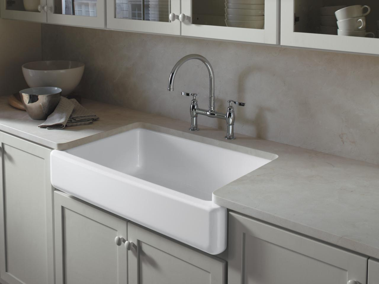 Stunning Kitchen Decoration Ideas Using Cabinet Plus Single Sink and Faucet