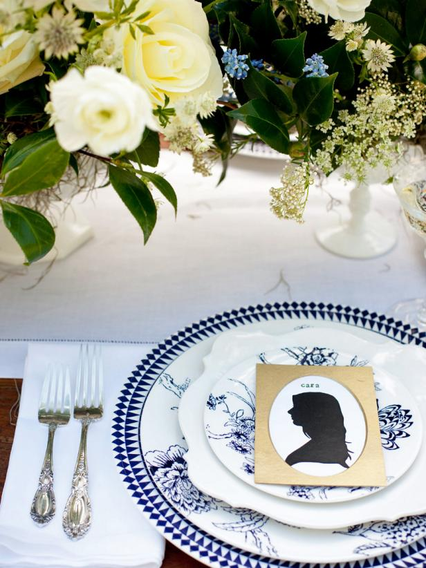 Stunning Table Place Setting With Chic Plate Beside Two Forks