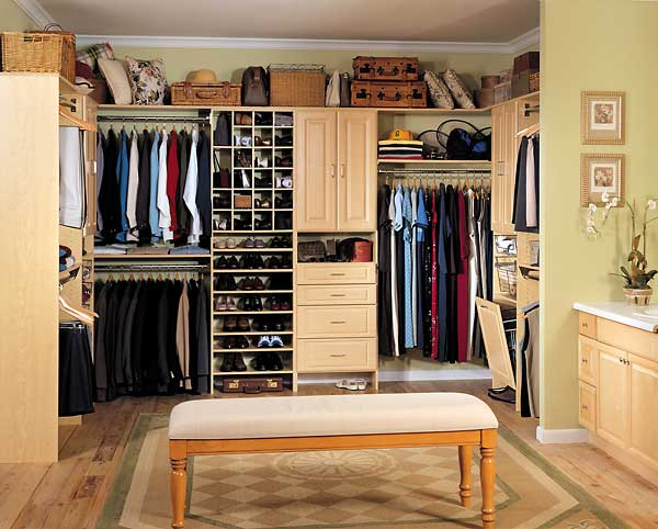 Stunning Wooden Drawer and Rack plus Bench also Closet Light Fixtures